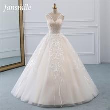 Fansmile robe de mariée Vintage en Tulle, robe de mariée en dentelle de qualité princesse, nouvelle collection 2020, FSM 523F