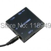 20 stücke Ultra Größe Combo 5 Gbps 3 Ports USB 3.0 Hub mit SD TF T-Flash Micro SD Kartenleser Schriftsteller für Macbook Laptop, Freies verschiffen