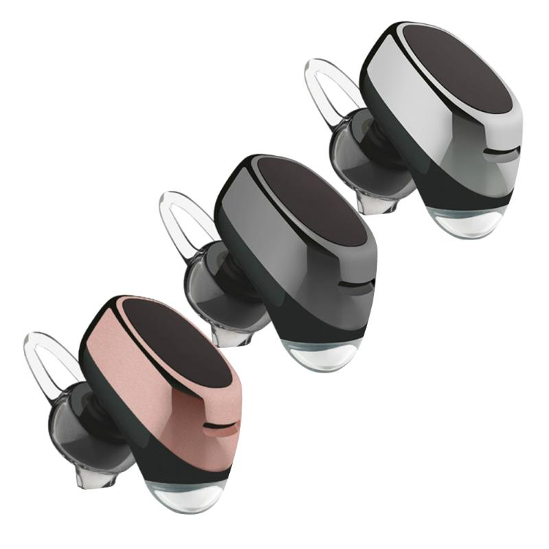 Fashion Mini Wireless Bluetooth Earphone Stereo Rechargeable Headphone with Mic for Smartphone Computer Charging Headset hlton portable 2 in 1 universal wireless bluetooth stereo headphone with mic support tf card headset for smartphone computer