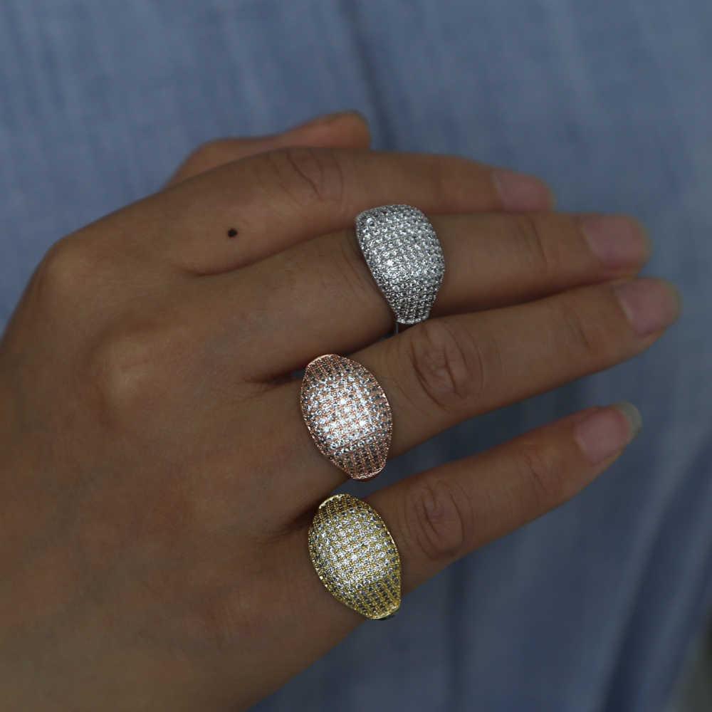 Новое поступление 2018, Ювелирное кольцо, полностью проложенный микро чистый цирконий, кольца для мужчин и женщин