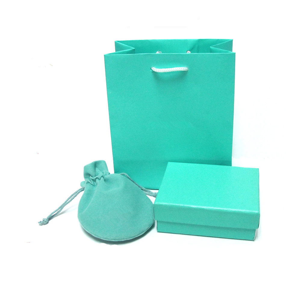 Wholesale Jewelry Packaging Wholesale Jewelry Blue Gift Boxes Pouches Bags Set Jewellery