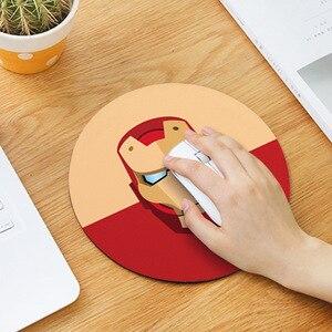 Image 3 - 20cm dos desenhos animados animal padrão mouse almofada redonda mousepad escritório ratos almofada de borracha computador em casa anti deslizamento esteira de mesa sala de estudo pc