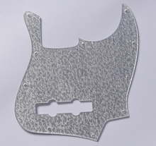 KAISH Silver Sparkle Plastic Jazz J Bass Pickguard Scratch Plate for US/Mexican Fender