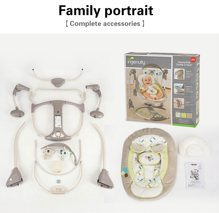 HTB1CyjLaLb2gK0jSZK9q6yEgFXah EU safety baby rocking chair 0-3 baby Electric cradle rocking chair soothing the baby's artifact sleeps newborn sleeping
