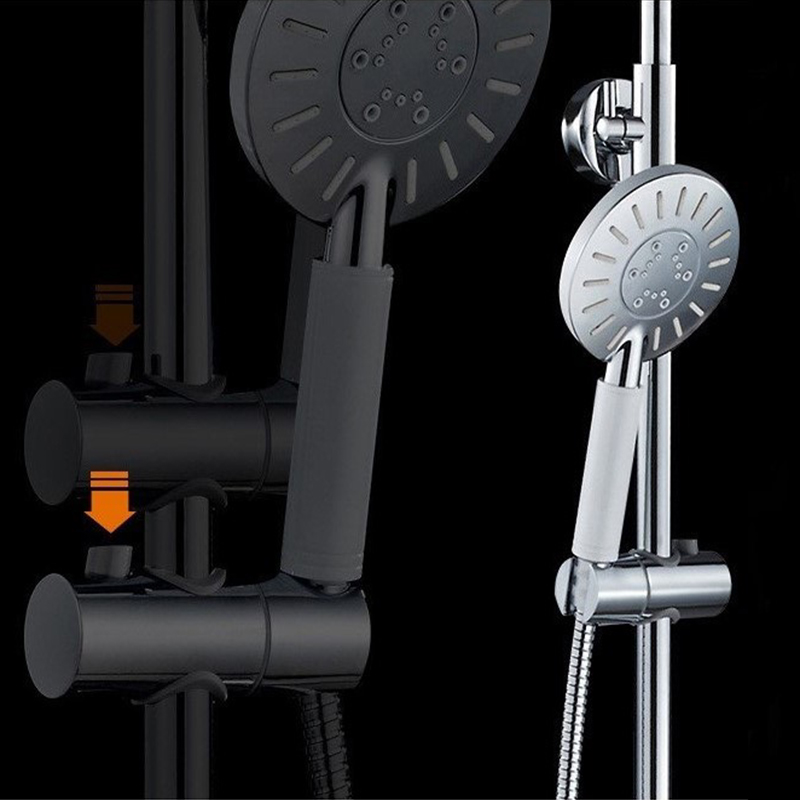 Best Quality Bath And Shower Faucet Set Wall Mounted Control Temperature  Thermostatic Shower Mixers Tap With Handshower Chrome In Shower Faucets  From Home ...