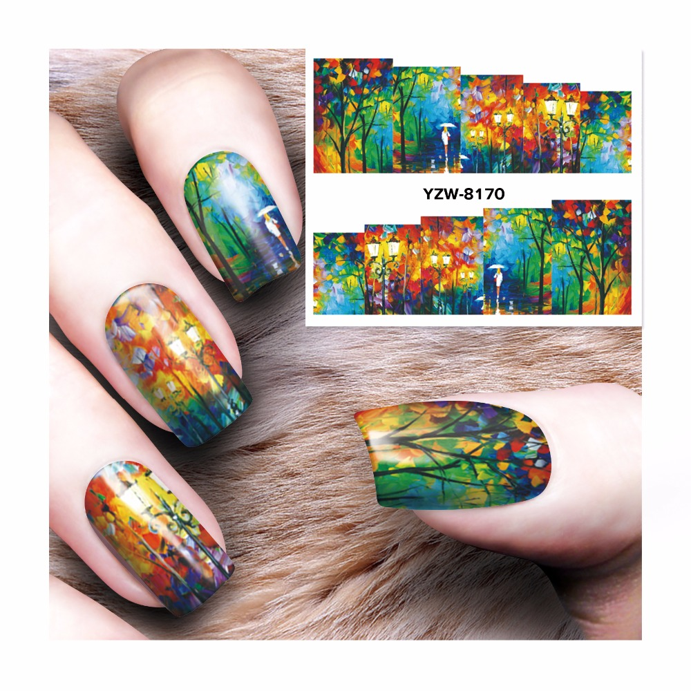 Lcj 1 Sheet Nail Art Wrap Water Transfer Nails Sticker Water Decals