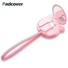 PADCOVER Usb Cable for IPhone 8 7 6 Plus 6s 5 5s Se X IPad Air 2 4 Mini Fast Charging Cables Mobile Phone Charger with Mirror new golden corner sidewall bend fix tool similar gtool icorner for for iphone 5 5s 6 plus ipad 2 3 4 mini ipod 4