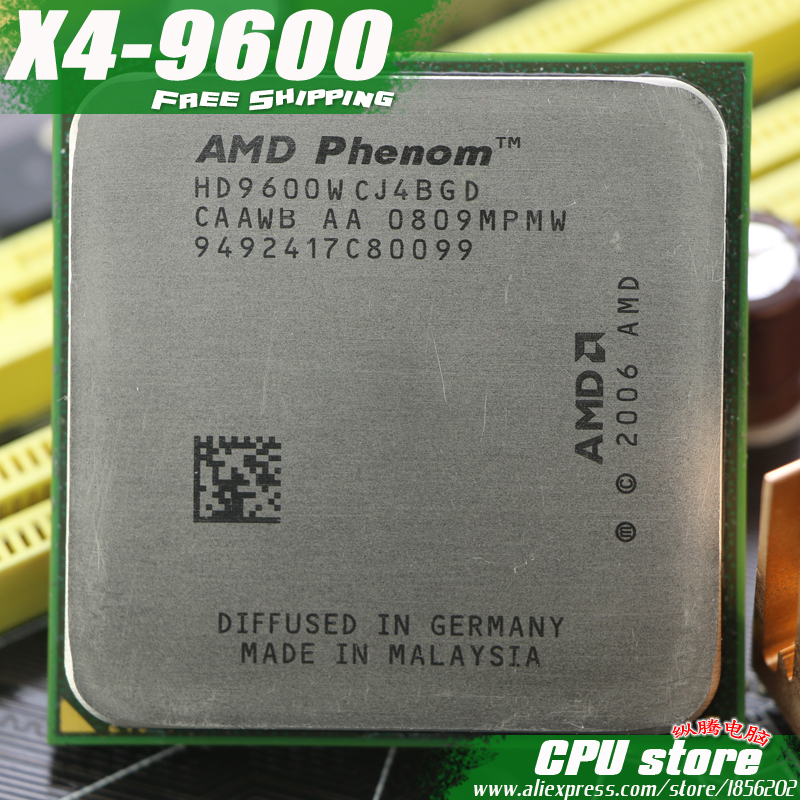 AMD Phenom X4 9600 מעבד מעבד Quad-CORE (2.3 Ghz/2 M/95 W/2000 GHz) שקע am2 + 940 סיכה, יש, למכור 9500 9550 9650 title=