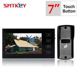 700TVL cor vídeo porteiro sistema de telefone da porta de 7 polegadas tela touch pad