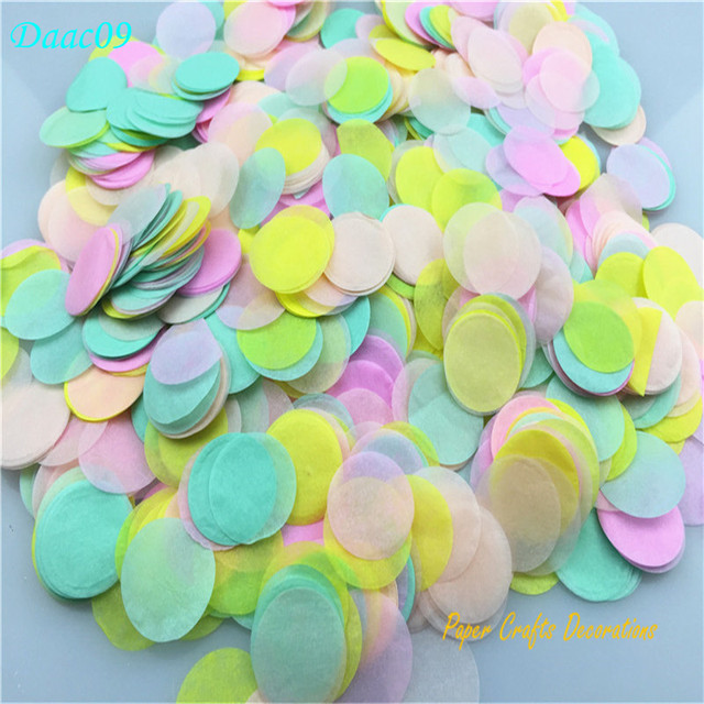 30g pack 2 5cm 1inch mixed colors round tissue paper confetti dots