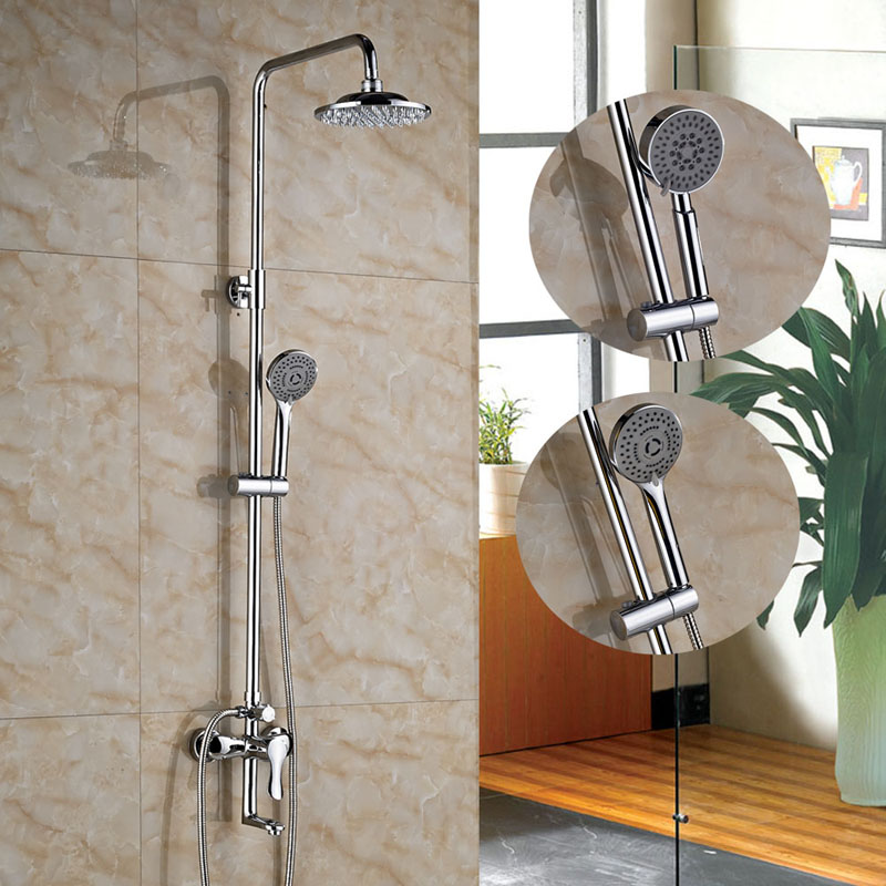 все цены на Chrome Finished Wall Mounted Shower Faucet 8