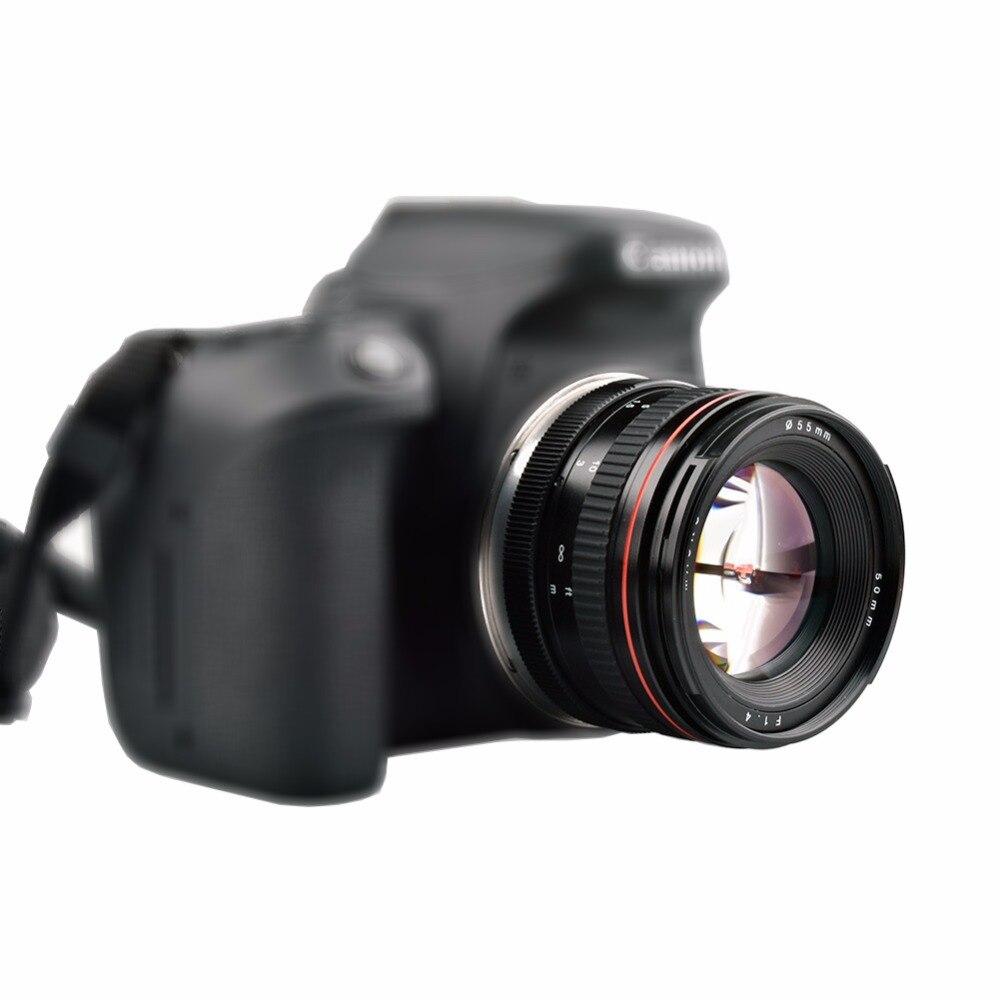 Objectif de caméra de mise au point manuelle Lightdow 50mm F1.4 à grande ouverture pour Canon 550D 600D 650D 750D 77D 80D 5D 6D 7D DSLR