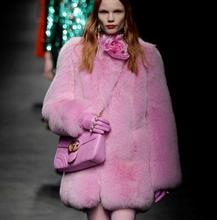 Luxury Fluffy Women's Whole Skin Natural Real Fox Fur Coats 2016 Brand Design New Female Pink Genuine Fox Fur Outerwear