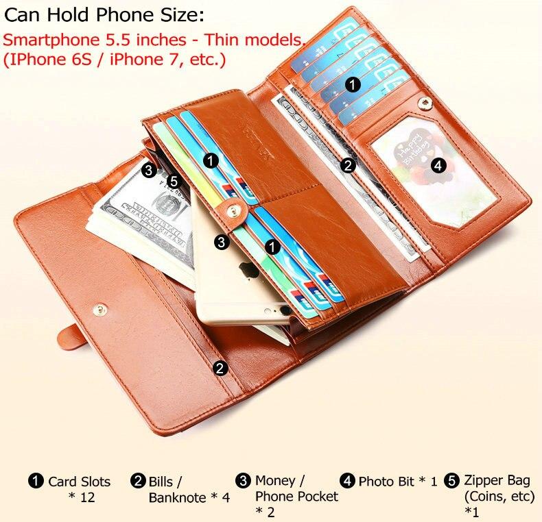de couro bolsa telefone feminino Modelo Número : 7786#