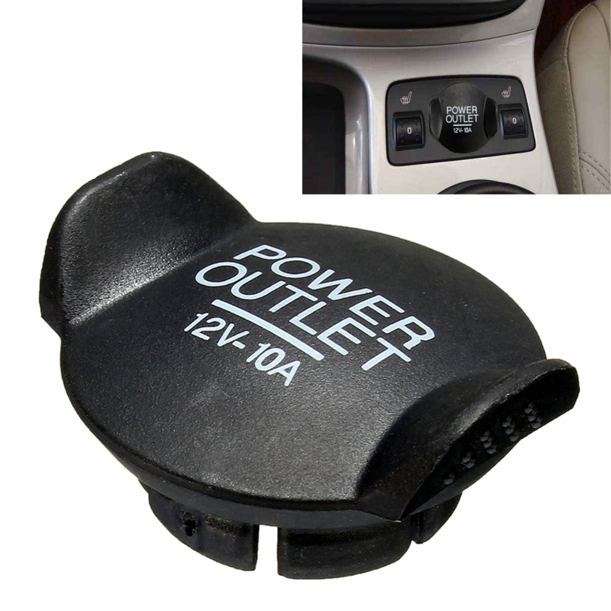 1PC Power 12V Socket Lighter Cigarette Outlet Cover Cap For Ford /Focus /Fiesta /Mondeo