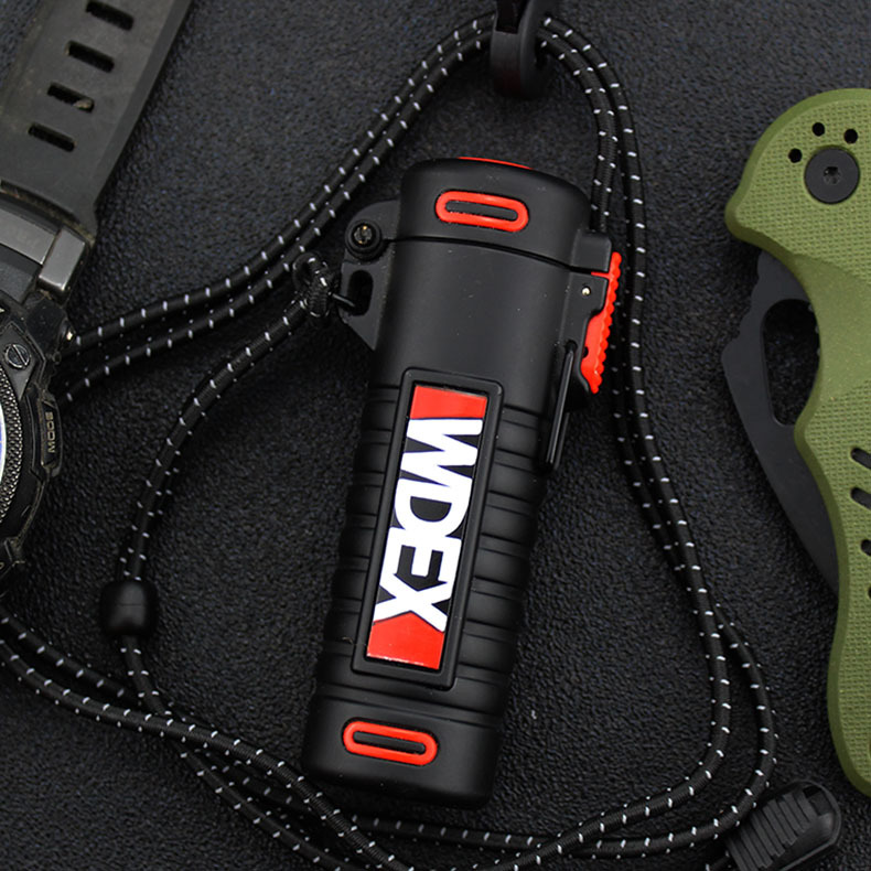 Outdoor Use IP67 Waterproof Windproof Arc Pulse Plasma Cigarette Smoking Lighter USB Charging Electric Metal Lighter  Mens Gift