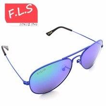 2016 New Summer Style Reflected Sunglasses Child Brand Designer UV400 Metal Frame Sun glasses for Children Glasses FLS1606-ls