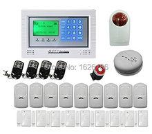 Free DHL Home security wireless GSM alarm system GSM network with 4 wired 100 wireless zone Burglar