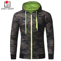 2017 Autumn Winter Hoodies Men Sudaderas Hombre Hip Hop Mens Brand Camouflage Hooded Zipper Hoodie Sweatshirt