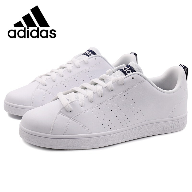 Original Adidas NEO Label avantage CLEAN VS unisexe Skateboarding chaussures Sneakers Athentic hommes et femmes Adidas Sneakers loisirs