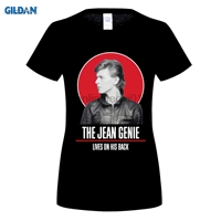 GILDAN 100 Cotton O Neck Printed T Shirt David Bowie T Shirt The Jean Genie For