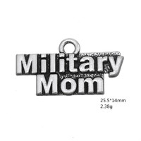 Miniaml New 100PCS/LOT Antique Silver Color Military Mom Charms Jewelry for Women Diy Necklace/bracelets accessories