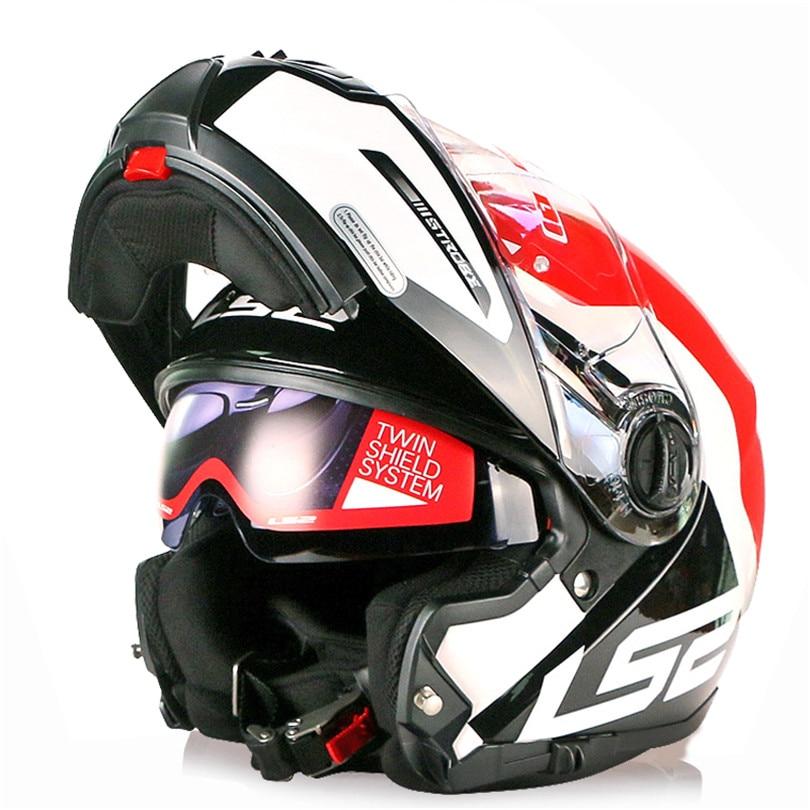 LS2 STROBE Motorcycle Helmet Modular Flip Up Capacete Casque Casco Open Moto Helm Kask Full Face