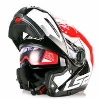 LS2 STROBE Motorrad Helm Modular Flip Up Capacete Casque Casco Open Moto Helm Kask Volle Gesicht Touring Helme Motorrad
