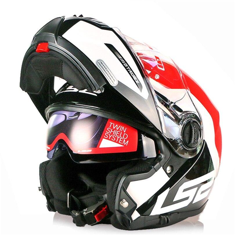 LS2 STROBOSCOPIQUE Moto Casque Modulaire Flip Up Capacete Casque Casco Ouvert Moto Helm Kask Plein Visage Touring Casques Moto