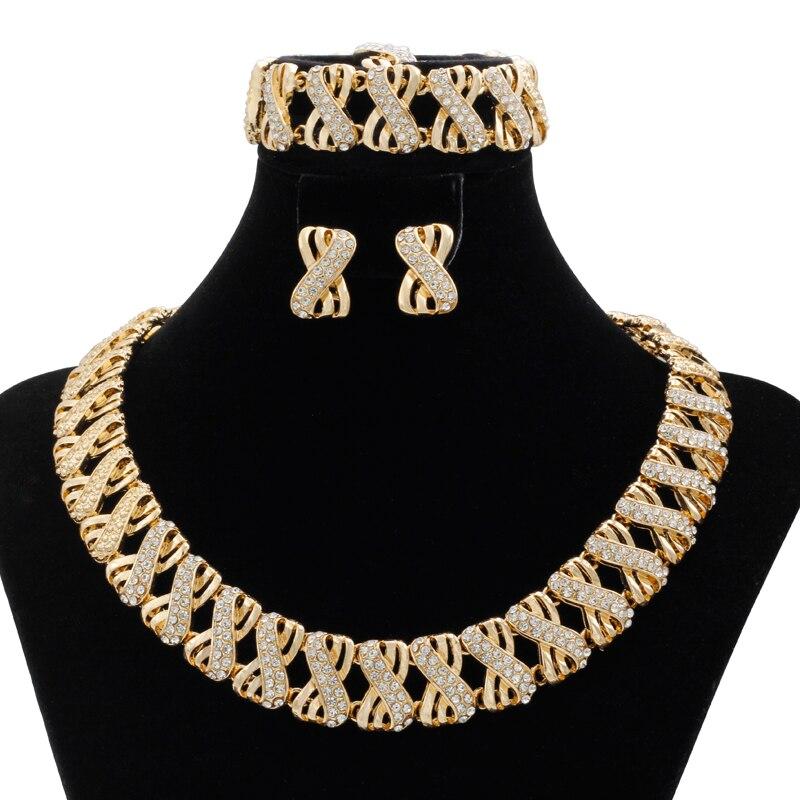 2018 India Jewelry Dubai Gold Jewelry Women Fashion: 2018 New Fashion Italian Holiday Gift Dubai Wedding Women