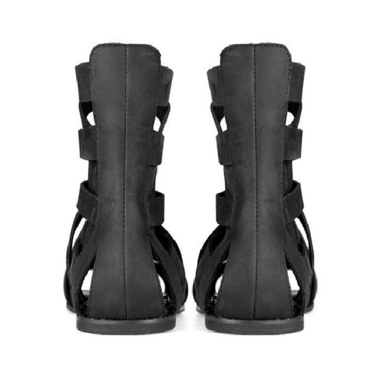 b36467198036f HOT Man Designer Sandals Genuine Leather Cool Beach Shoes Cut Out Flip-Flops  Roman Male Black Sandalias High Top Summer Boot