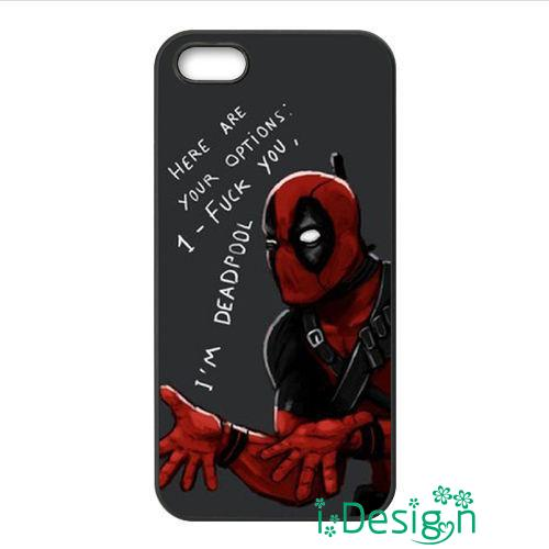 Fit for Samsung Galaxy mini S3/4/5/6/7 edge plus+ Note2/3/4/5 back skins cellphone case cover Superhero Deadpool Quotes
