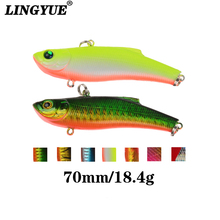 Купить с кэшбэком LINGYUE 1pcs Fishing Lures 7cm/18.4g VIB bait Artificial Make 7 Colors Available Bass Crankbait Wobblers Fishing Tackle Pesca.