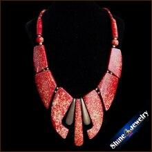 Comercio al por mayor RedTibetan joyería tribal Hueso de Yak Tibetano Hecho A Mano Natural de las mujeres de plata del Águila Colgante collar Largo Envío gratuito