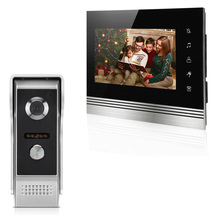 Wired Video Door Phone TFT-LCD 7-inch Intercom System Video Door Phone Visual Video Intercom Waterproof Outdoor Infrared Camera купить недорого в Москве