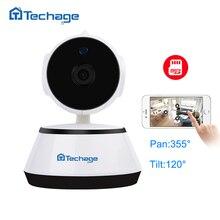 Techage 720 P HD аудио запись Wi-Fi CCTV Камера SD Card ONVIF P2P Видеоняни и радионяни Встроенный микрофон Динамик Беспроводной Камера движения обнаружить