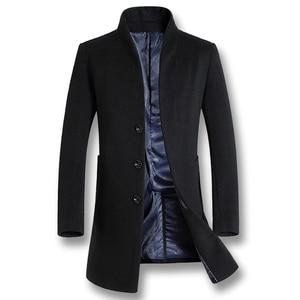 Image 1 - ISurvivor 2020 גברים עסקים מקרית צמר מעילי מעילי Hombre זכר האופנה Slim Fit גודל גדול חורף סתיו מעילי מעיילים