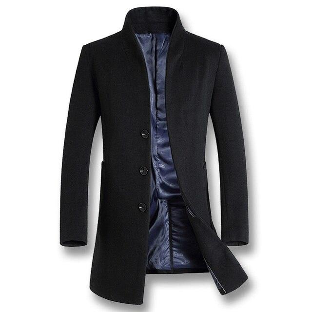 ISurvivor 2020 גברים עסקים מקרית צמר מעילי מעילי Hombre זכר האופנה Slim Fit גודל גדול חורף סתיו מעילי מעיילים