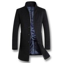 ISurvivor 2020 mężczyźni Business Casual wełniane płaszcze płaszcze Hombre męskie moda Slim Fit duże rozmiary zimowe kurtki jesienne parki