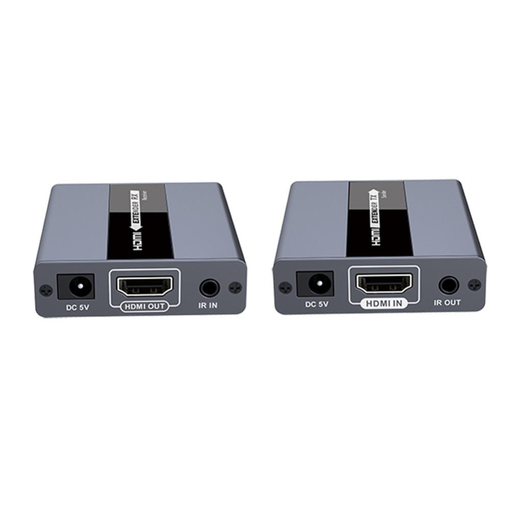 NOUVEAU LKV371 En temps Réel HDMI Extender Sur CAT5/5E/6 Ir Retour Pour Télécommande Jusqu'à 120 m Via Cat6 Full HD 1080 p HDMI