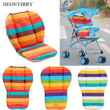 лучшая цена Rainbow Baby Stroller Seat Cushion Pushchair High Chair Pram Car Colorful Soft Carriages Seat Pad Child Stroller Mat Accessories