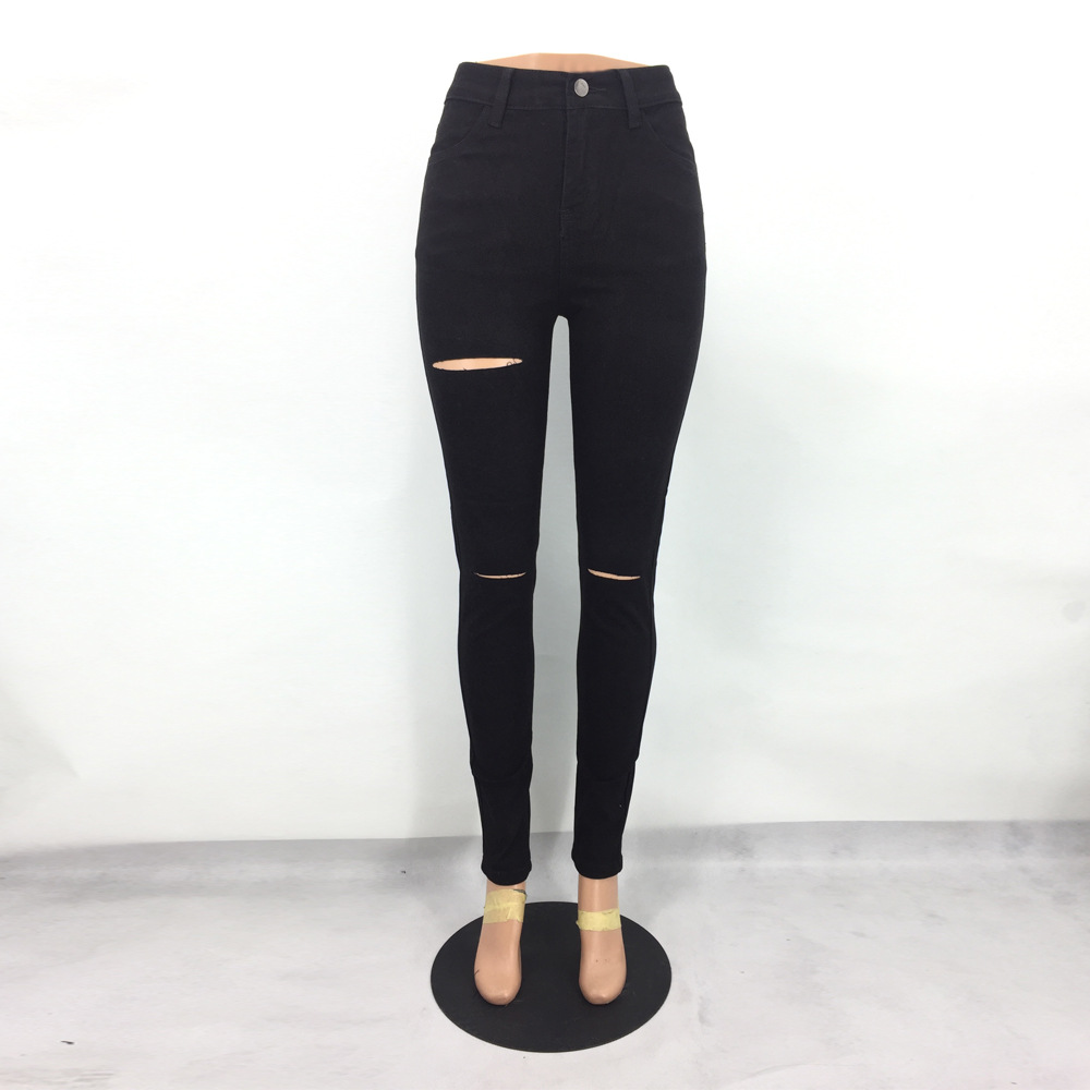 stretch black jeans