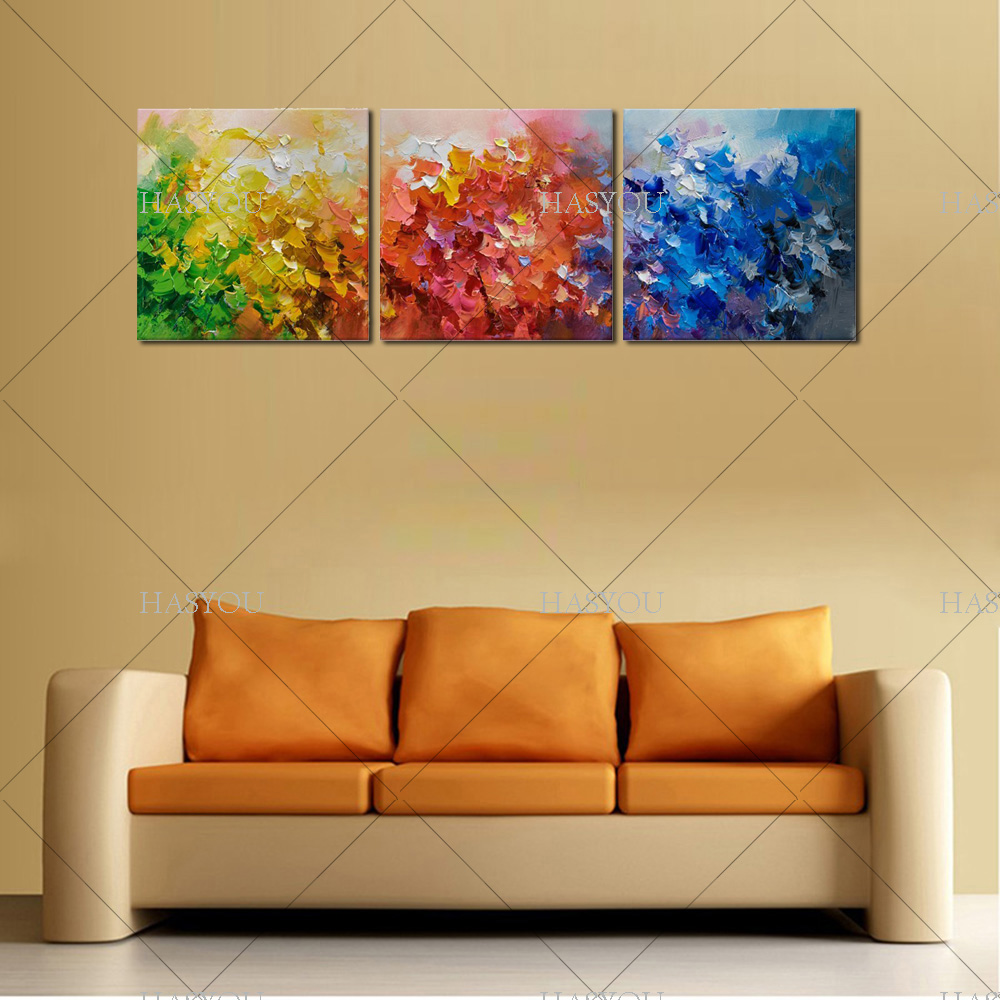 3PCs wall decor oil painting modern oil painting on canvas abstract ...