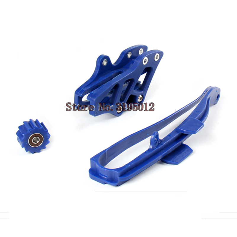 NEW Chain Slider Swingarm Guide Lower Roller + Rear Chian Guide Guard Kits For WR250F WR450F YZ250F YZ450F free shipping reversing roller chain 6nylon roller set for kone escalator spare parts free shipping by dhl