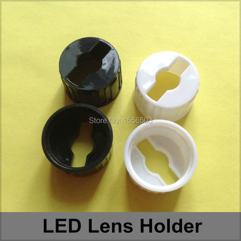 300 Pcs/lot LED Lens Holder For 20mm Lenses In Common Use White Black 1W 3W High Power Lens Bracket Holder Acrylic
