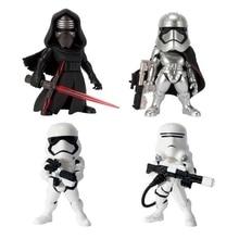 Disney Flametrooper Stormtrooper Star Wars 4 pçs/set Kylo Ren Capitão Phasma Anime Action Figure Coleção Brinquedos modelo Estatueta