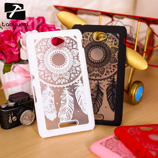 TAOYUNXI Hard Case For Sony Xperia  E4 E2115 E2124 E2104 E2114 E2105 E 4 Cover Dream Catcher Plastic Clear Retro Fashion Case