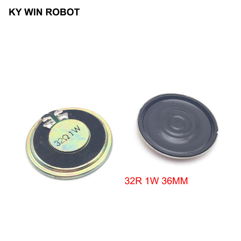 2pcs/lot New Ultra-thin Speaker 32 Ohms 1 Watt 1W 32R Speaker Diameter 36MM 3.6CM Thickness 5MM