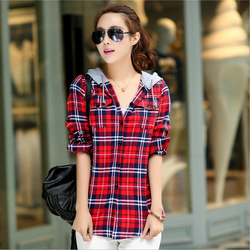 Online buy wholesale hooded check shirts from china hooded for Buy plaid shirts online