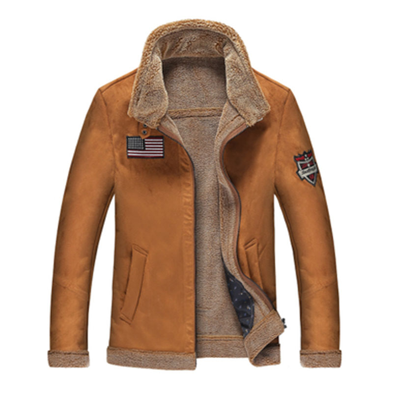 Winter Fur Coats Men Cashmere Faux Sheepskin Mens Fur Coats Slim Luxury Fleece Warm Male Parka Jackets Brown Blue Outwear